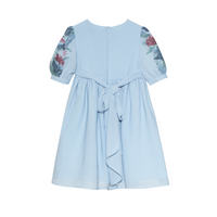Party Girl Pale Blue and Floral Dress