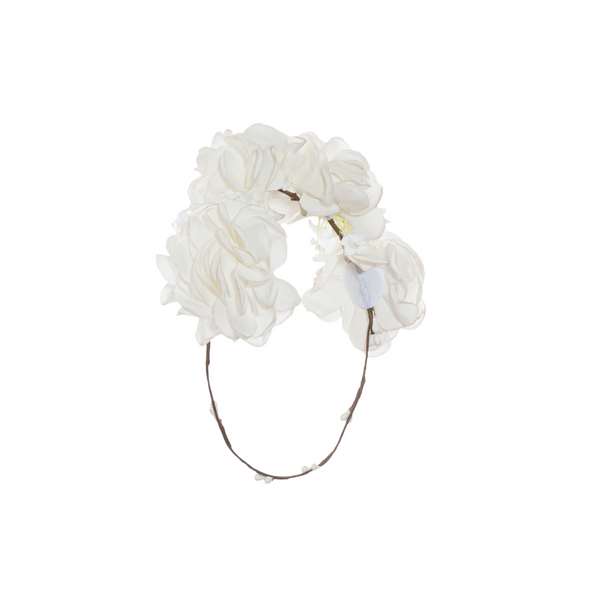 White Floral Hairband