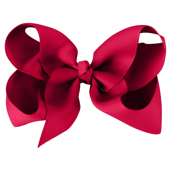 Large Boutique Bow Clip - Azalea