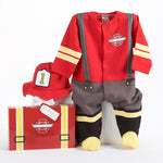 Baby Firefighter Layette Set in Themed Gift Box