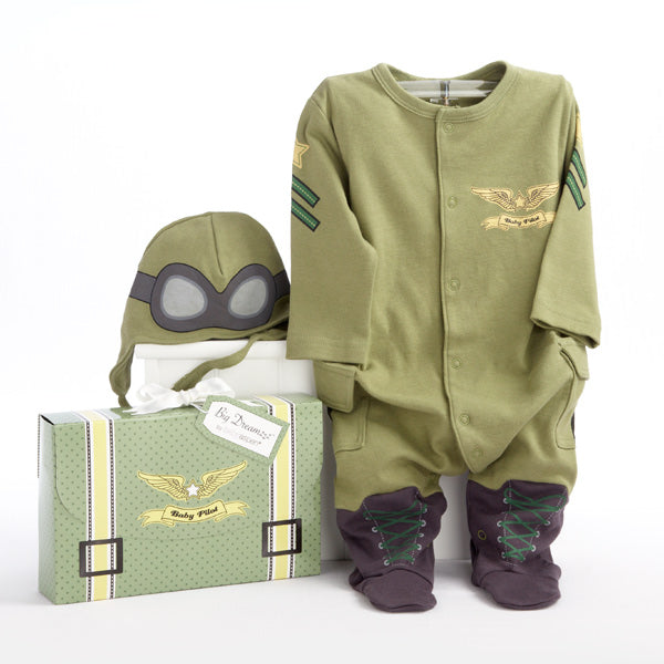 Baby Pilot Layette Set in Themed Gift Box