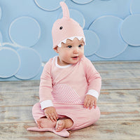 Let the Fin Begin Two-Piece Layette Set - Pink
