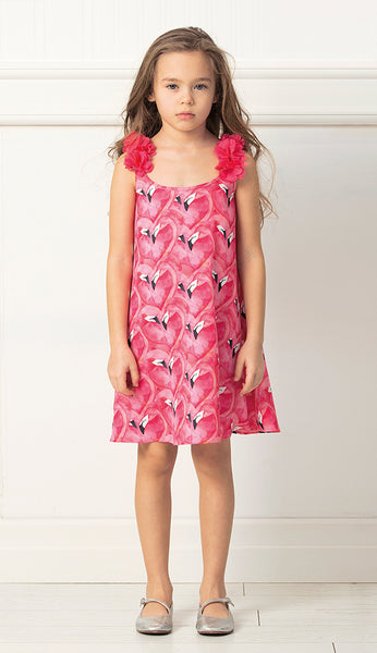 Honolulu Flamingo Dress