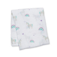 Muslin Swaddle - Rainbows and Unicorns