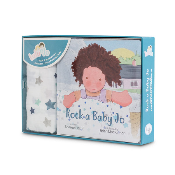 Rock a Baby Jo Gift Set - Book and Swaddle