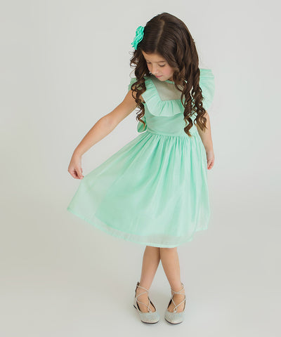 Bow Eid Dress - Mint