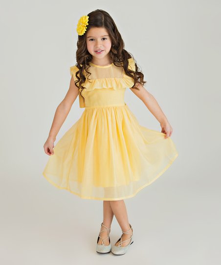 Bow Eid Dress - Pale Yellow