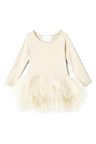 Long Sleeve Tutu Dress - Pearl Ivory