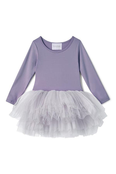 Long Sleeve Tutu Dress - Betty Purple