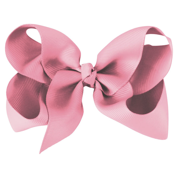 Large Boutique Bow Clip - Wild Rose