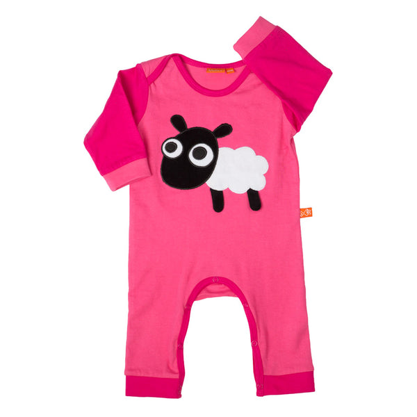 Jumpsuit with Sheep - Cerise/Pink
