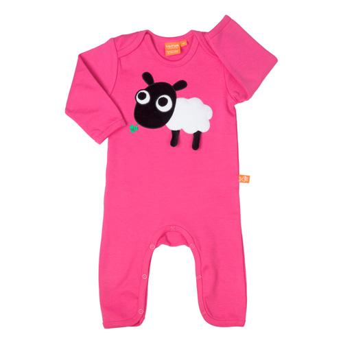 Jumpsuit with Sheep - Pink
