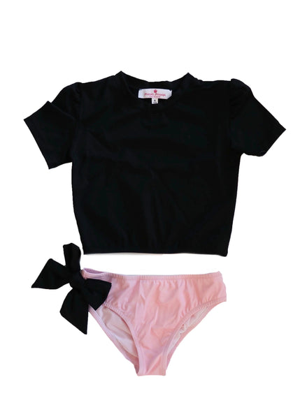 Martinica Two-Piece Swimsuit - Black/Cotton Candy