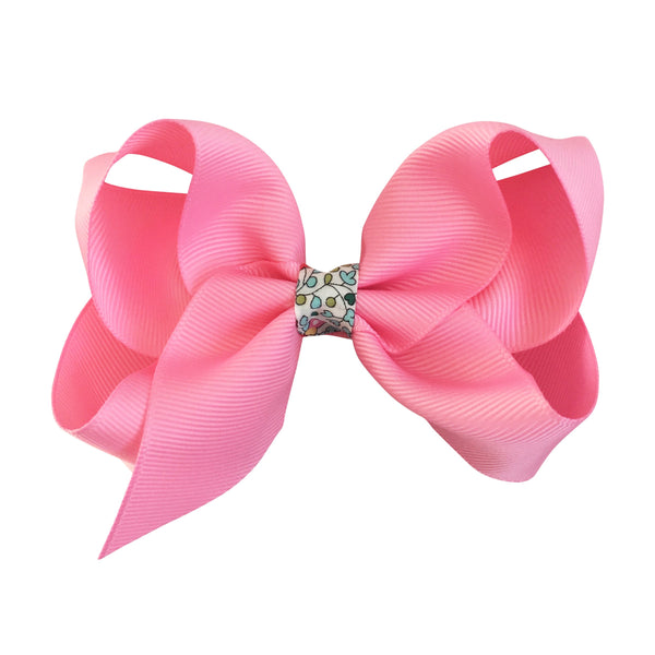 Large Boutique Bow Clip - Sherbet with Liberty
