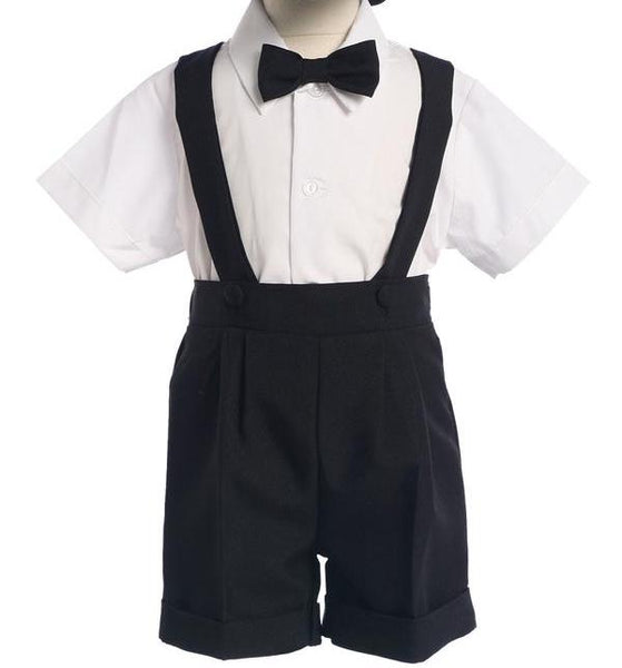 Black Short Set with Suspenders