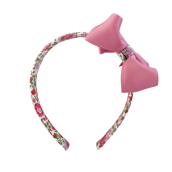 Medium Boutique Hairband - Quartz with Liberty