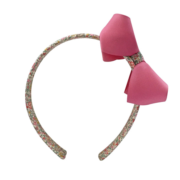 Medium Boutique Hairband - Wild Rose with Liberty