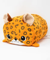 Orange Spotty Leopard Pillow Plush Toy