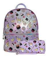 Lilac Sushi Unicorn Mini Backpack & Wallet