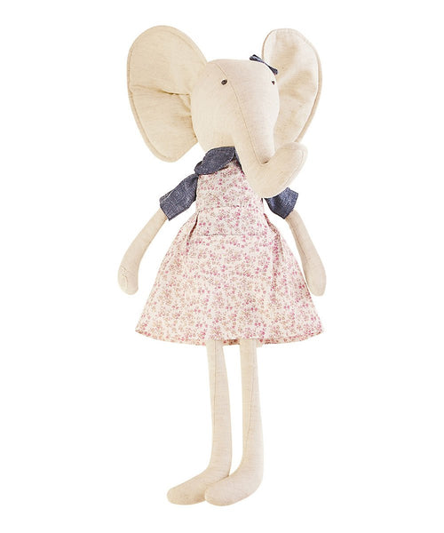 Pink Floral Dress Elephant Plush Toy