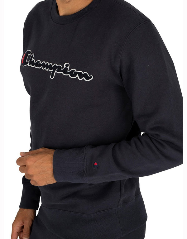 Champion Script Logo Recylced Cotton Terry Sweatshirt