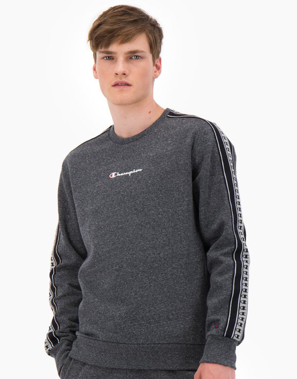 Champion Stripe C Logo Tape Cotton Terry Sweatshirt