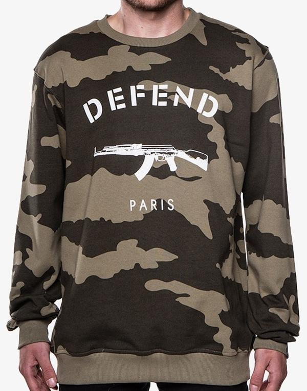 Defend Paris Paris Crew Crewneck hos Stillo