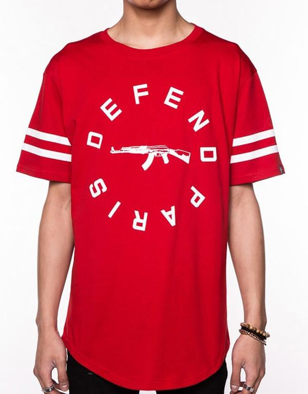 Defend Paris Strip T-Shirt hos Stillo