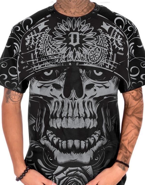 Dyse One Skully T-Shirt hos Stillo