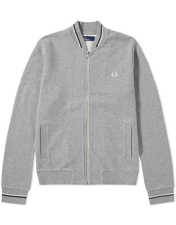 Fred Perry Bomber Neck Zip Sweat hos Stillo