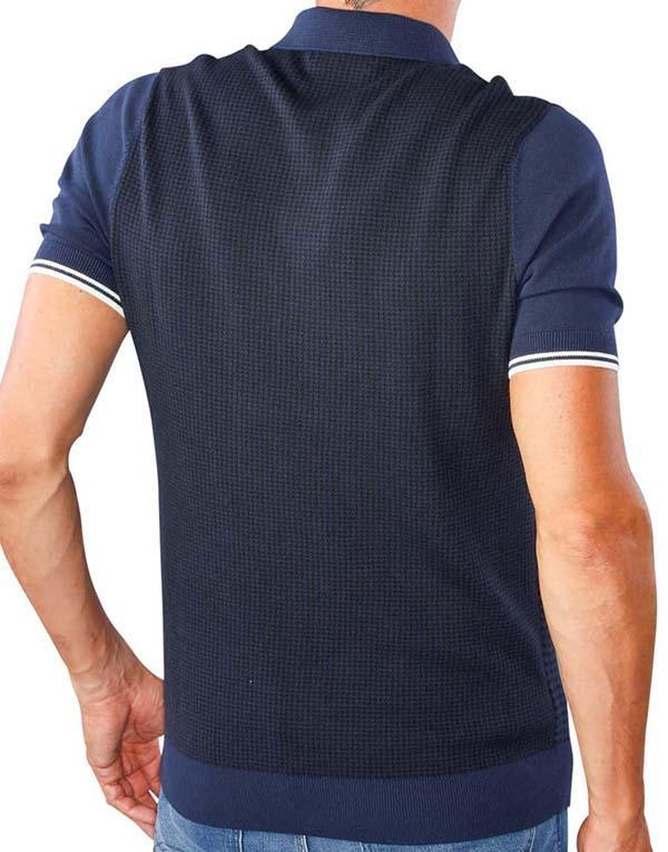 Fred Perry Houndstooth Knitted Polo hos Stillo