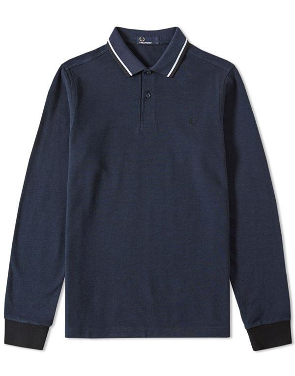 Fred Perry L/S Twin Tipped Polo hos Stillo