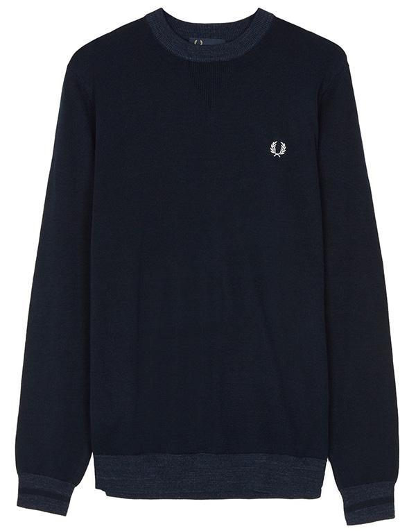 Fred Perry Yarn Trim Crewneck hos Stillo