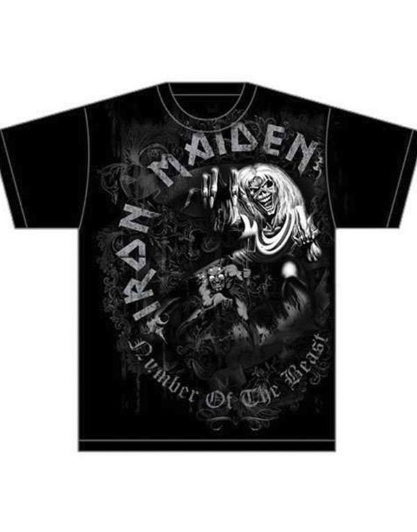 Iron Maiden Number of the beast Grey tone T-Shirt hos Stillo
