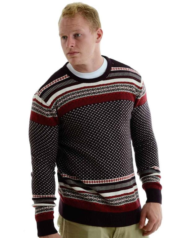 Levi's Patterned Crewneck Knit Sweater hos Stillo