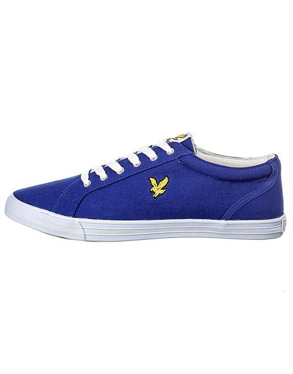 Lyle & Scott Halket Canvas Pump Shoe hos Stillo