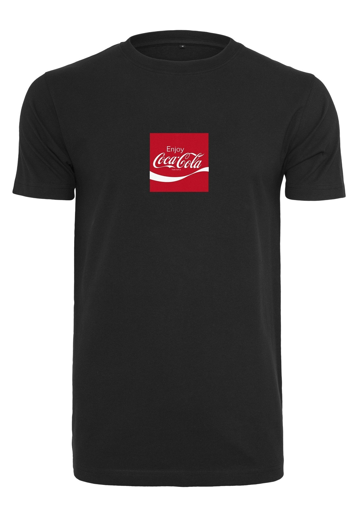Merchcode Coca Cola Taste The Feeling Tee - Merchcode Coca Cola Taste The Feeling Tee 100% Bomuld/Cotton - Style No. MC144 - Farve/Color. Black The tee of Merchcode with a meaningful front- and backprint is a key piece for every wardrobe. Furthermore, it convinces with a high wearing comfort. På la