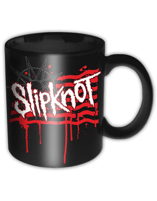 Slipknot Dripping Flag and Logo Krus