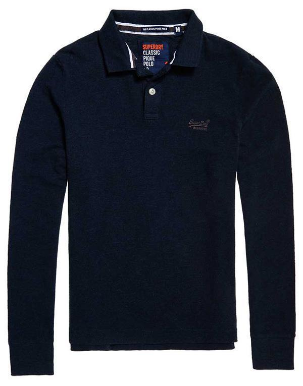 SuperDry Classic L/S Pique Polo hos Stillo