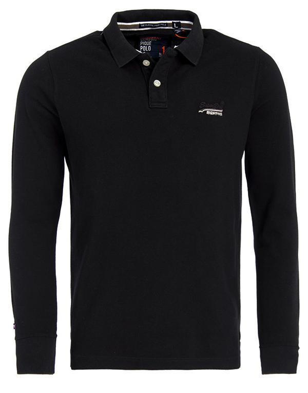 SuperDry Classic L/S Pique Polo1 hos Stillo