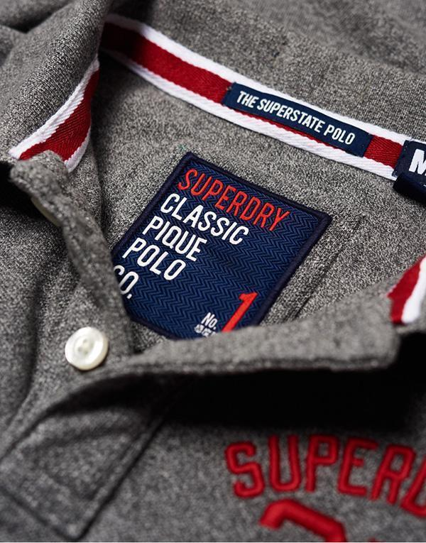 SuperDry Classic S/S Superstate Polo hos Stillo