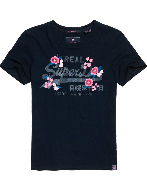 Superdry Lady Vintage Logo Emb Floral Entry T-shirt