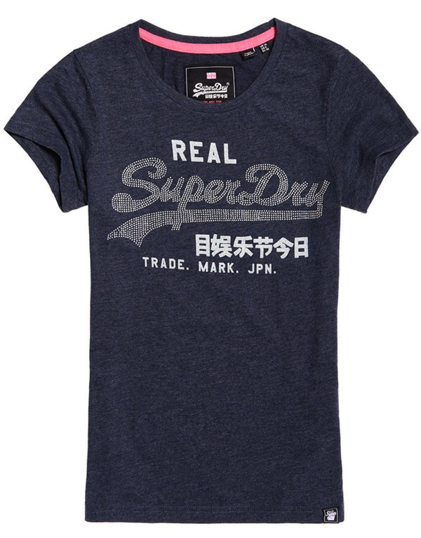 Superdry Lady Vintage Logo Rhinestone Entry T-shirt
