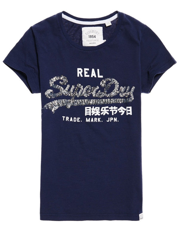 Superdry Lady Vintage Logo Sequin Entry T-shirt
