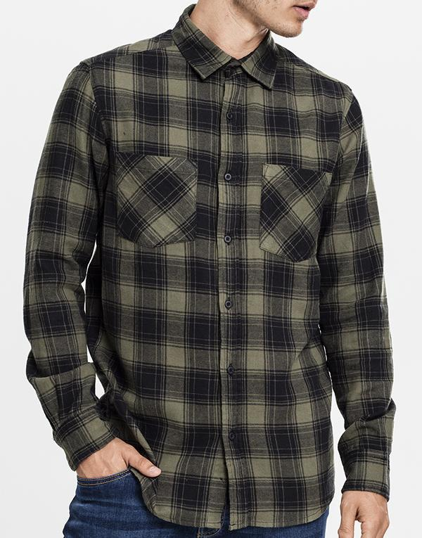 Urban CLassics Checked Flannel Shirt hos Stillo