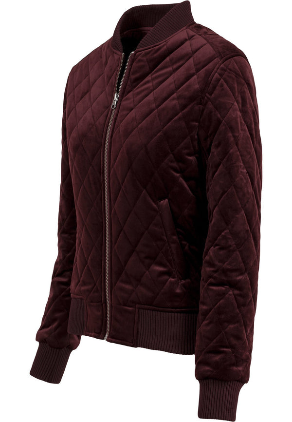 Urban Classics Ladies Diamond Quilt Velvet Jacket