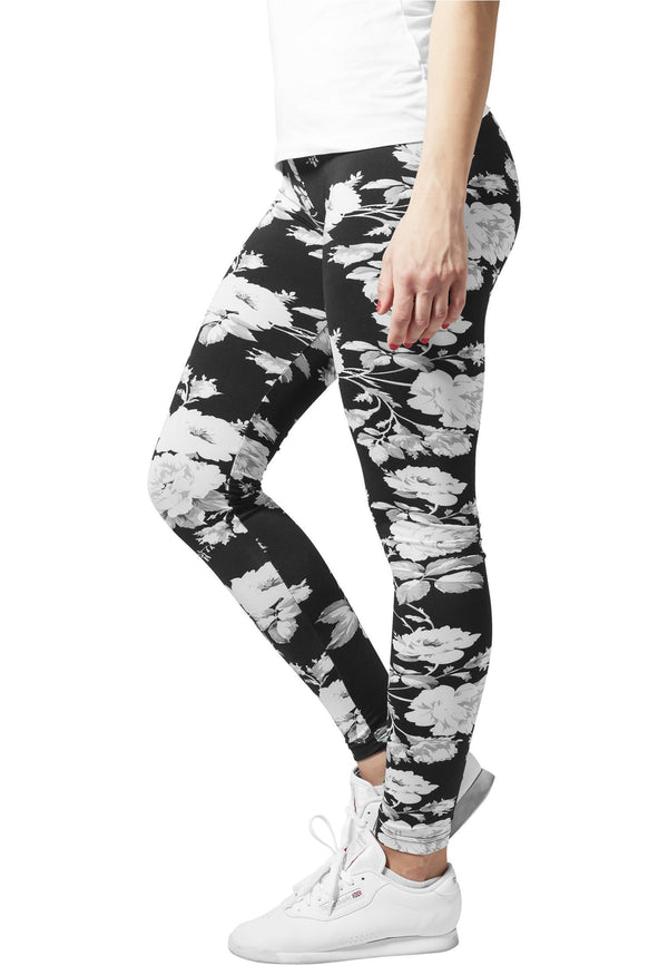 Urban Classics Ladies Flower Leggings hos Stillo