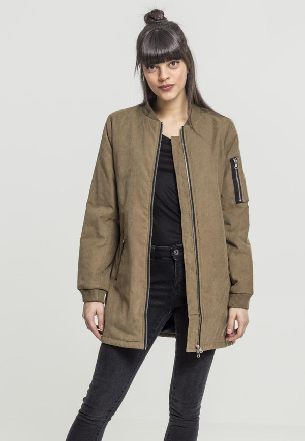 Urban Classics Ladies Peached Long Bomber Jacket