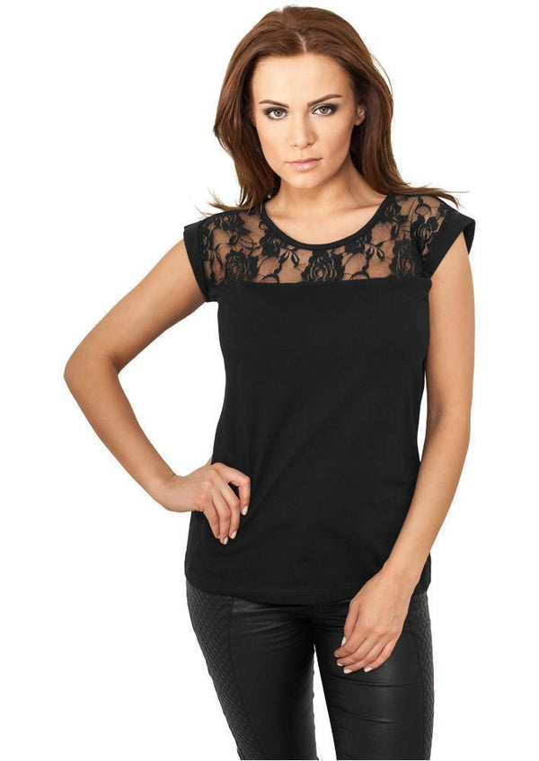 Urban Classics Ladies Top Laces Tee