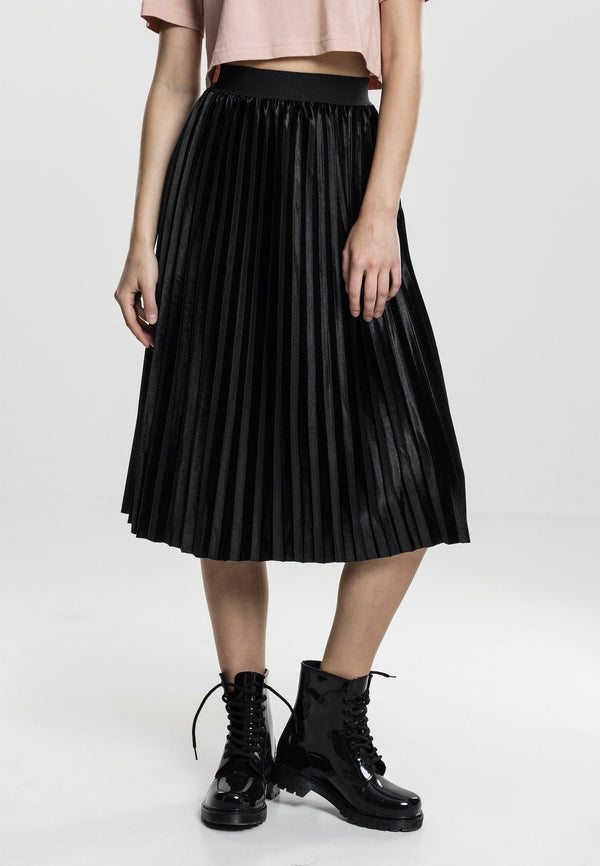 Urban Classics Ladies Velvet Plisse Skirt hos Stillo